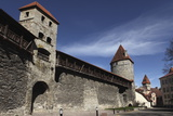 Medieval Towers and City Walls in the Old Town of Tallinn, Estonia, Europe Photographic Print by Stuart Forster