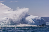 Waves Washing over Iceberg Near Elephant Island, South Shetland Islands, Antarctica, Polar Regions Photographic Print by Michael Nolan