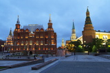 The Historical Museum on Red Square and the Kremlin at Night, Moscow, Russia, Europe Photographic Print by Martin Child