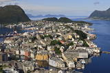 View from Aksla Hill over Alesund and Surrounding Waters, More Og Romsdal, Norway Photographic Print by Eleanor Scriven