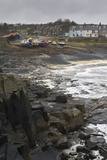 Craster in Winter, Craster, Northumberland, England, United Kingdom, Europe Photographic Print by Eleanor Scriven