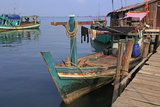 Fishing Village in Sihanoukville Port, Sihanouk Province, Cambodia, Indochina, Southeast Asia, Asia Photographic Print by Richard Cummins