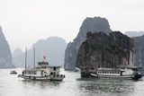 Chinese Junk in Halong Bay, UNESCO World Heritage Site, Vietnam, Indochina, Southeast Asia, Asia Photographic Print by Richard Cummins