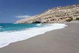 Matala Bay and Beach, Heraklion District, Crete, Greek Islands, Greece, Europe Photographic Print by Markus Lange