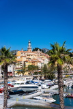 Old Town and Marina, Menton, Cote D'Azur, French Riviera, Provence, France, Mediterranean, Europe Photographic Print by Peter Groenendijk