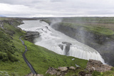 View of Gullfoss (Golden Waterfall) on the Hvita River, Iceland, Polar Regions Photographic Print by Michael Nolan