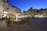 Restaurants in the Evening in the Piazza Anfiteatro Romano, Lucca, Tuscany, Italy, Europe Photographic Print by Stuart Black