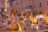 Piazza Navona in Rome, Lazio, Italy, Europe Photographic Print by Julian Elliott
