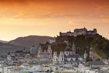 Sunrise over Hohensalzburg Fortress and Alt Stadt, Salzburg, Salzburger Land, Austria, Europe Photographic Print by Doug Pearson