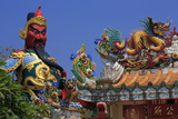 Statue in Hainan Temple, Nathon City, Koh Samui Island, Thailand, Southeast Asia, Asia Photographic Print by Richard Cummins