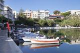 Voulismeni Lake, Agios Nikolaos, Lasithi, Crete, Greek Islands, Greece, Europe Photographic Print by Markus Lange