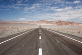 Empty Open Road, San Pedro De Atacama Desert, Chile, South America Photographic Print by Kimberly Walker