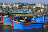 Fishing Boats on Cai River, Nha Trang City, Vietnam, Indochina, Southeast Asia, Asia Photographic Print by Richard Cummins