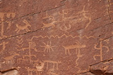 Petroglyphs, Gold Butte, Nevada, United States of America, North America Photographic Print by James Hager