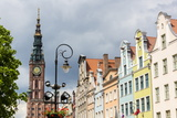 The Long Market, Dlugi Targ, with Town Hall Clock, Gdansk, Poland, Europe Photographic Print by Michael Nolan