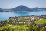 Elevated View over Picturesque Weyregg Am Attersee, Attersee, Salzkammergut, Austria, Europe Photographic Print by Doug Pearson