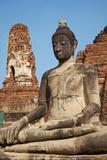 Buddha Statue, Wat Mahatat, Ayutthaya Historical Park, Ayutthaya, Thailand, Southeast Asia, Asia Photographic Print by Tuul