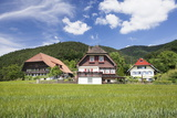 Black Forest Houses, Gutachtal Valley, Black Forest, Baden Wurttemberg, Germany, Europe Photographic Print by Markus Lange