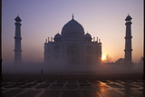 Taj Mahal at Sunrise, UNESCO World Heritage Site, Agra, Uttar Pradesh, India, Asia Photographic Print by Peter Barritt