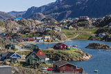 View of the Brightly Colored Houses in Sisimiut, Greenland, Polar Regions Photographic Print by Michael Nolan