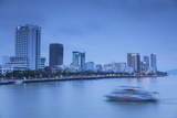 City Skyline Along Han River at Dusk, Da Nang, Vietnam, Indochina, Southeast Asia, Asia Photographic Print by Ian Trower
