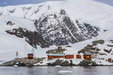 The Unattended Argentine Research Station Base Brown, Paradise Bay, Antarctica, Polar Regions Photographic Print by Michael Nolan