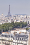 The Eiffel Tower over the Rooftops of Paris, France, Europe Photographic Print by Julian Elliott