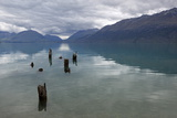 Old Pier Posts on Lake Wakatipu, Glenorchy, Otago, South Island, New Zealand, Pacific Photographic Print by Stuart Black