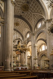 Interior of Cathedral, Puebla City, Puebla, Mexico, North America Photographic Print by Ben Pipe