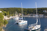 Yachts at Anchor in the Pretty Harbour, Kioni, Ithaca (Ithaki) Photographic Print by Ruth Tomlinson
