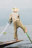 Intha Fishermen, Inle Lake, Shan State, Myanmar (Burma), Asia Photographic Print by Christian Kober