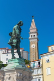 Church of St. George and Giuseppe Tartini Statue, Tartinijev Trg (Tartini Square), Old Town Photographic Print by Alan Copson