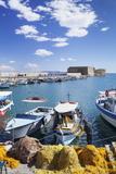Venetian Harbour, Venetian Fortress, Iraklion (Heraklio) (Iraklio) Photographic Print by Markus Lange