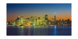 San Francisco Skyline, Panorama 2 - Night View From Treasure Island Photographic Print by Henri Silberman