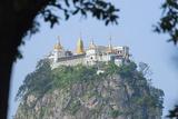Buddhist Temple on Popa Taung Kalat, Mount Popa, Myanmar (Burma), Asia Photographic Print by Christian Kober