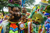 Colourful Dressed Participants in the Carneval (Carnival) in Santo Domingo Photographic Print by Michael Runkel