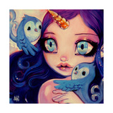 A Little Birdy Told Me Giclee Print by Natasha Wescoat