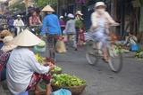 Women Vendors Selling Vegetables at Market, Hoi An, Quang Nam, Vietnam, Indochina Photographic Print by Ian Trower