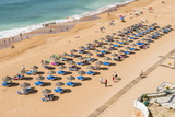 Fisherman Beach, Umbrellas and Beach Chairs, Albufeira, Algarve, Portugal, Europe Photographic Print by G&M Therin-Weise