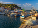 Fishing Nets and Fishing Boats, Old Town Harbour, Piran Photographic Print by Alan Copson