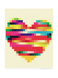 Rainbow Heart Reproduction procédé giclée par Natasha Wescoat