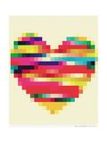 Rainbow Heart Wydruk giclee autor Natasha Wescoat
