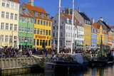 Boats in Nyhavn Harbour (New Harbour), Copenhagen, Denmark, Scandinavia, Europe Photographic Print by Simon Montgomery