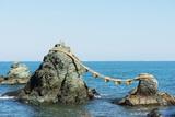 Futaminoura Rocks, Meoto-Iwa (Wedded Rocks), Mie Prefecture, Honshu, Japan, Asia Photographic Print by Christian Kober