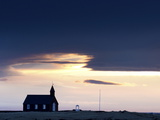 Budir Church at Sunrise, Hamlet on Budir in Stadarsveit on the Snaefellsnes Peninsula, Iceland Photographic Print by Lee Frost