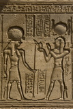 Dendera Necropolis, Qena, Nile Valley, Egypt; Carvings on the Outside Wall of the Temple of Hathor Photographic Print by Tony Waltham