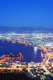 Hakodate Bay Night View, Hokkaido, Japan, Asia Photographic Print by Christian Kober