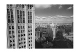 Woolworth Building and New York City City Hall - Aerial View Of Lower Manhattan Photographic Print by Henri Silberman