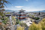 Mu Residence (Mufu) with Courtyard in Lijiang Old Town, Lijiang, Yunnan Province, China, Asia Photographic Print by Andreas Brandl