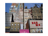 34Th Street, NYC Building Facades - Faded Murals, Old Signs Photographic Print by Henri Silberman
